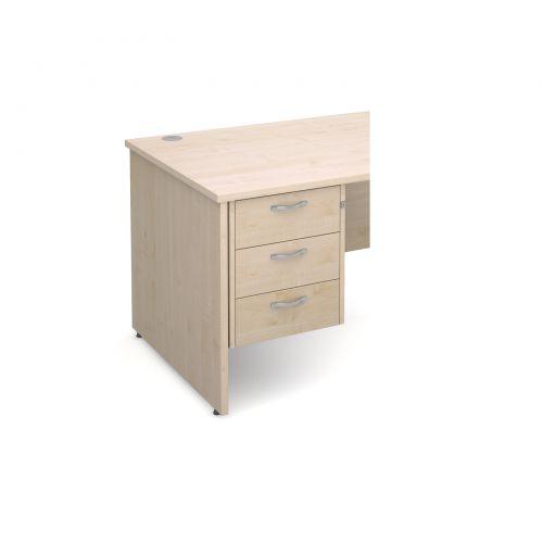 Maestro 25 3 drawer fixed pedestal - maple