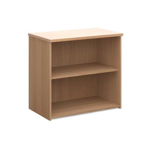 Universal bookcase 740mm high with 1 shelf - beech