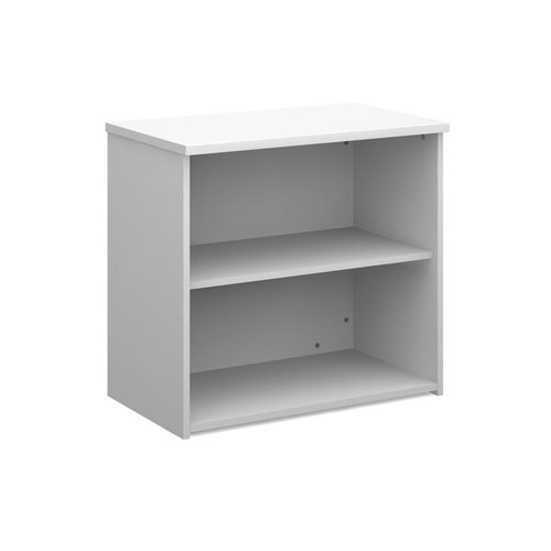 Universal bookcase 740mm high with 1 shelf - white   to go in room with the 3 girls