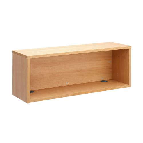 Denver reception straight hutch unit 1200mm x 350mm - beech