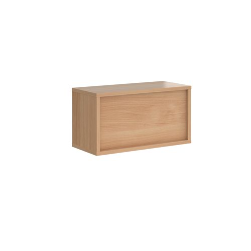 Image for Denver reception straight top unit 800mm x 350mm - beech