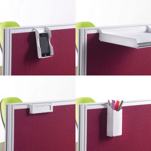 Screen accessories pack for aluminium frames screens - white