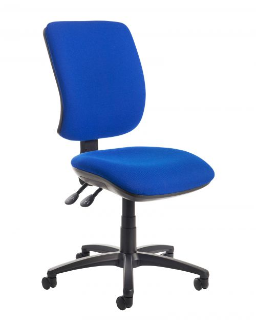 Image for Senza high back operator chair with no arms - blue