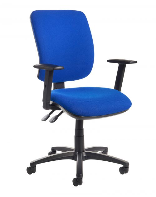 Image for Senza high back operator chair with adjustable arms - blue