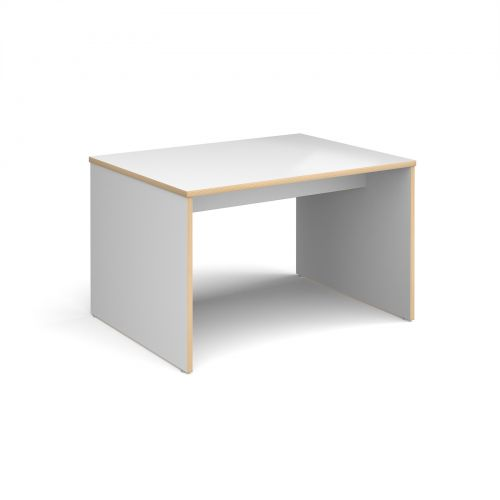 Slab 25 four person table 1200mm x 900mm with 25mm white top
