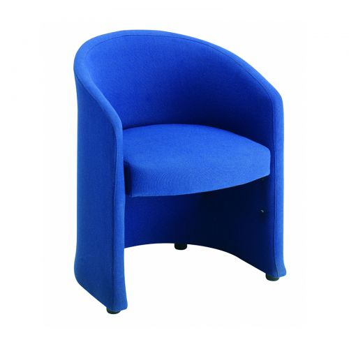 Image for Slender fabric reception single tub chair 620mm wide - blue