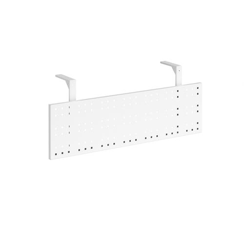 Steel perforated modesty panel for use with 1200mm single desks - white