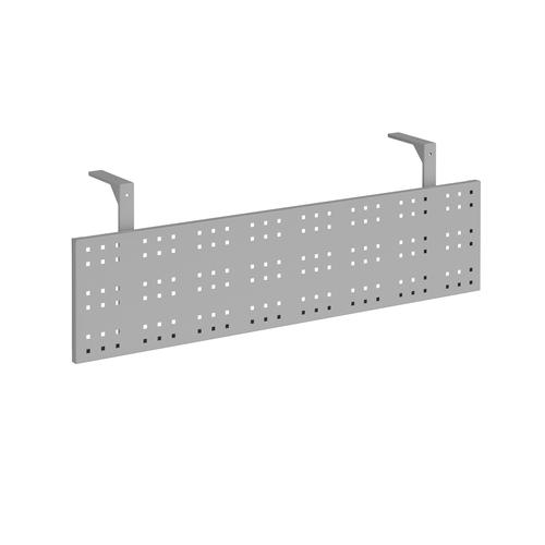 Steel perforated modesty panel for use with 1400mm single desks - silver