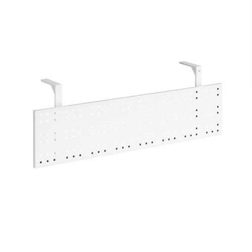 Steel perforated modesty panel for use with 1400mm single desks - white