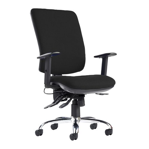 Senza ergo 24hr ergonomic asynchro task chair - black