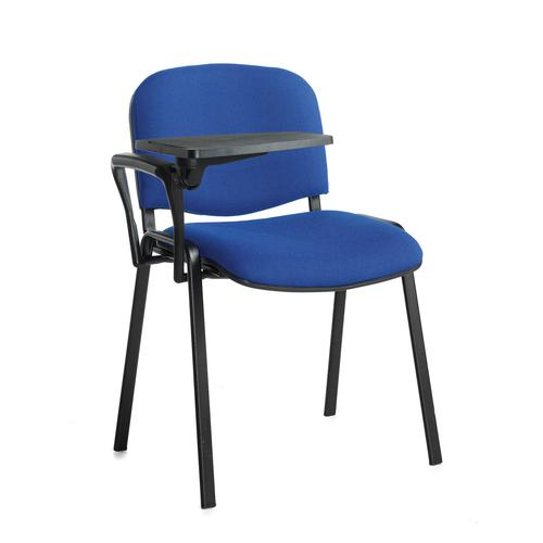 Image for Taurus meeting room chair with black frame and writing tablet - blue