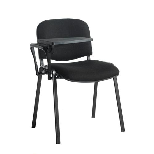 Image for Taurus meeting room chair with black frame and writing tablet - black
