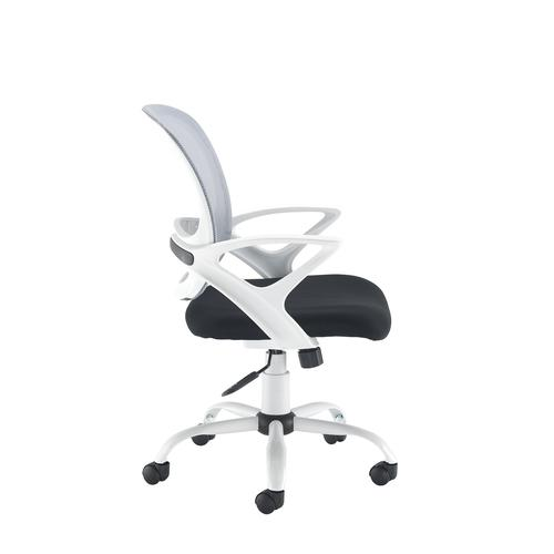 Tyler mesh back operator chair with white frame - Furniture