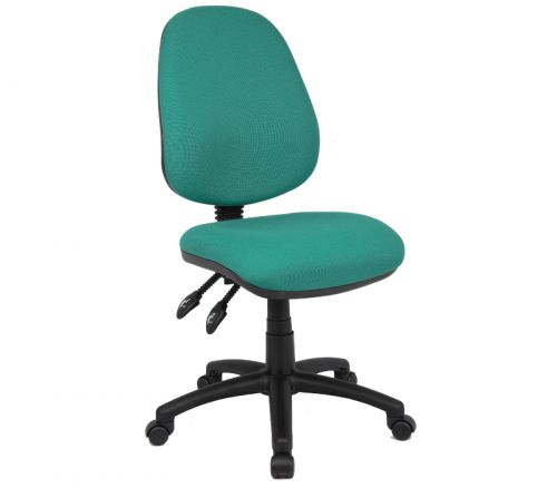 Vantage 100 2 lever PCB operators chair with no arms - green