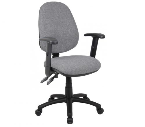 Vantage 100 2 lever PCB operators chair with adjustable arms - grey
