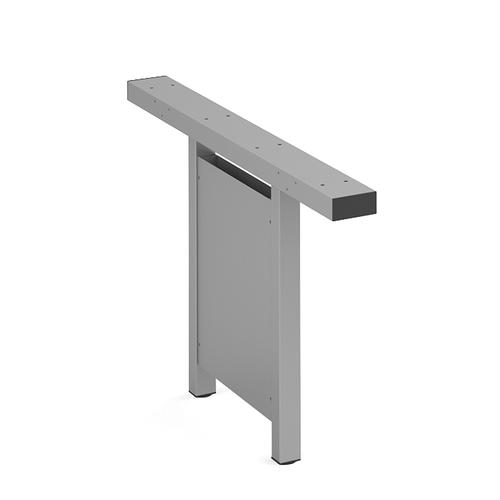 Connex vertical cable riser 1200mm - silver