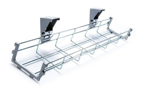 Drop down cable management tray 1200mm long