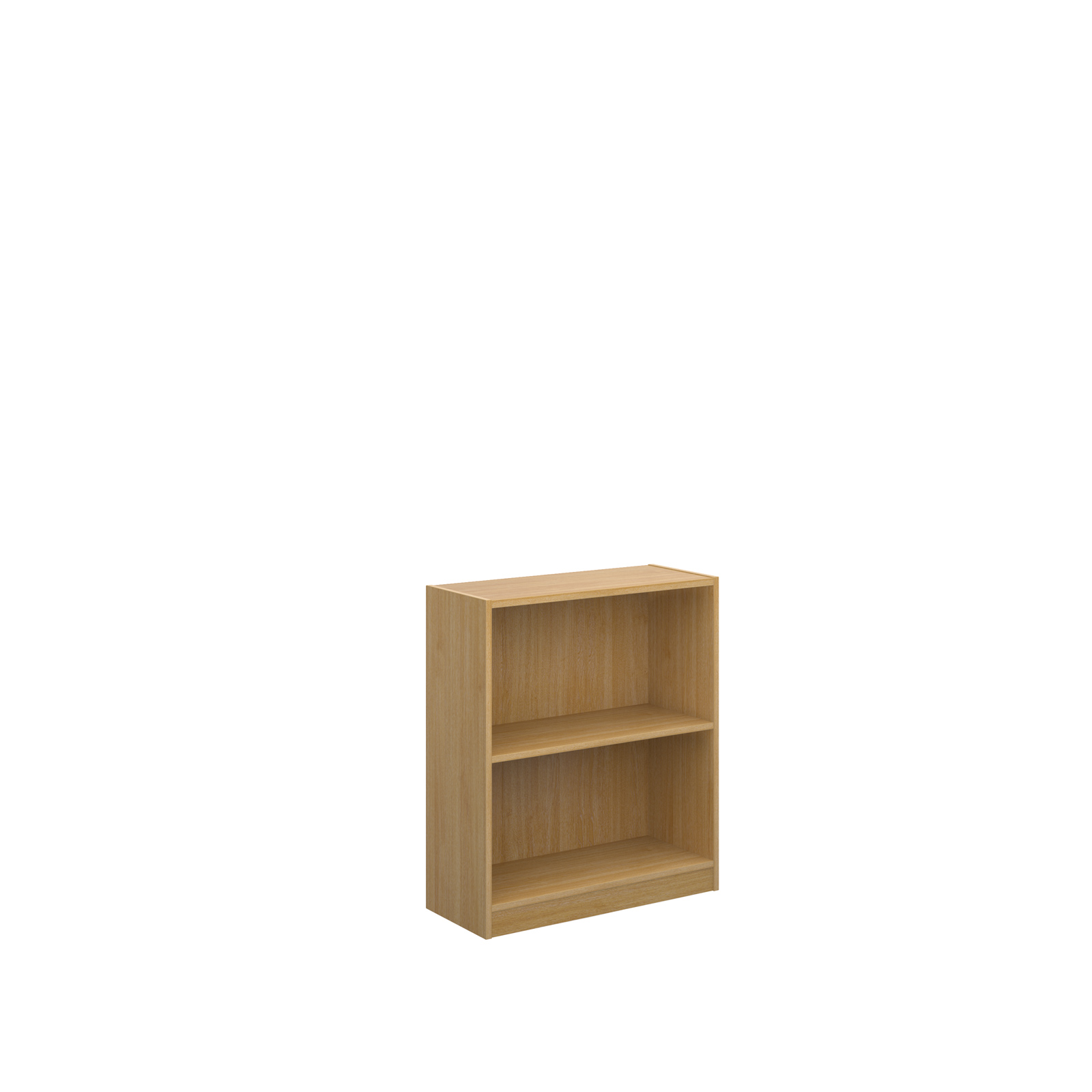 Economy bookcase 720mm high with 1 shelf - oak