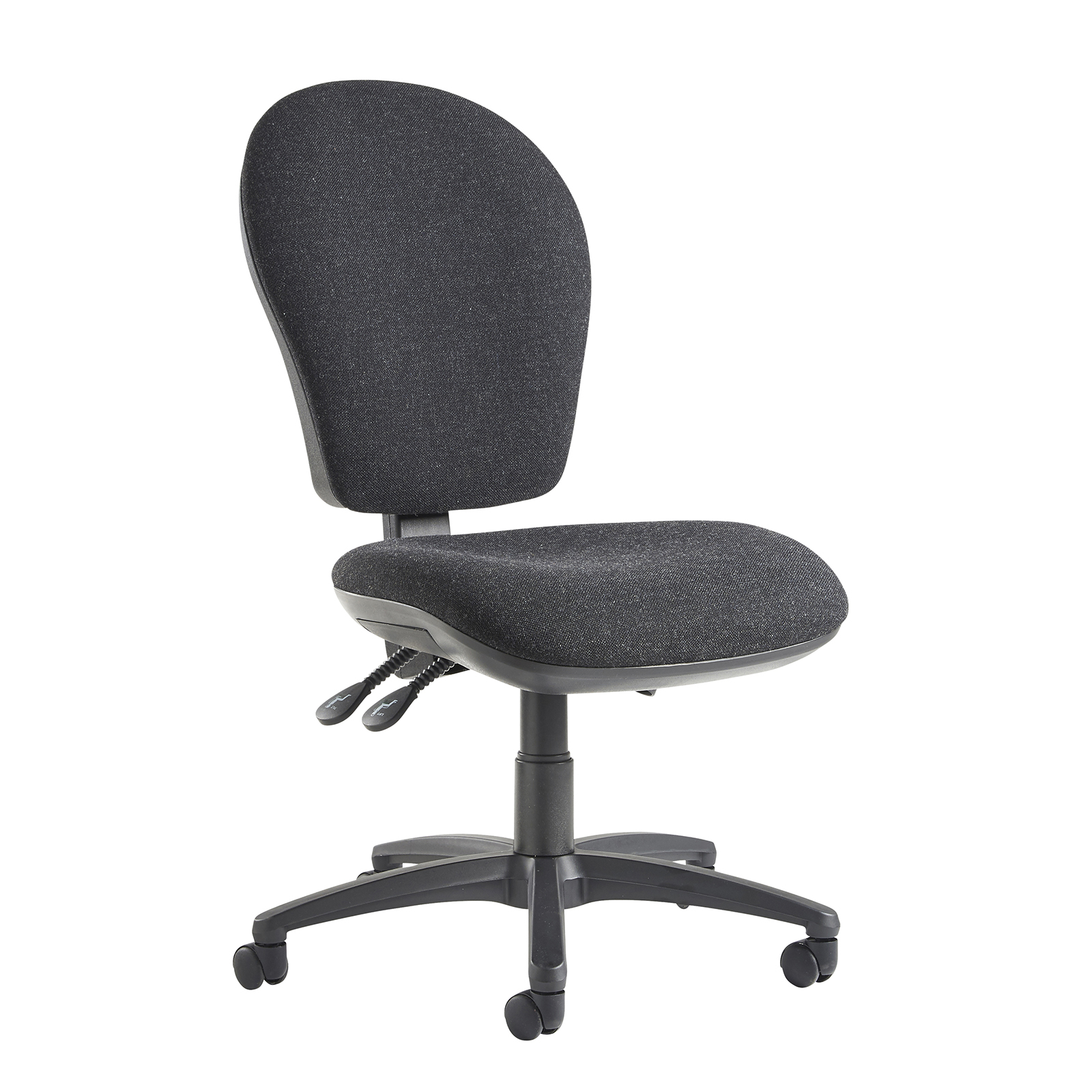 Lento high back operator chair with no arms - charcoal