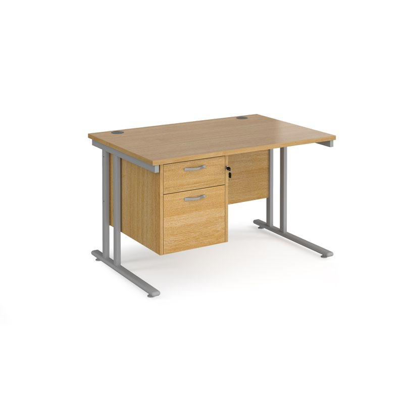 Desk Fixed Rail Drawer Maestro Mm Cantilever Desk With 2