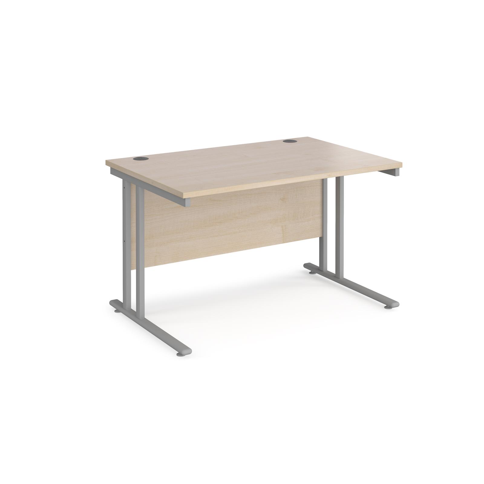 Image for Maestro 25 SL 1200mm Cantilever Straight Desk Silver Maple