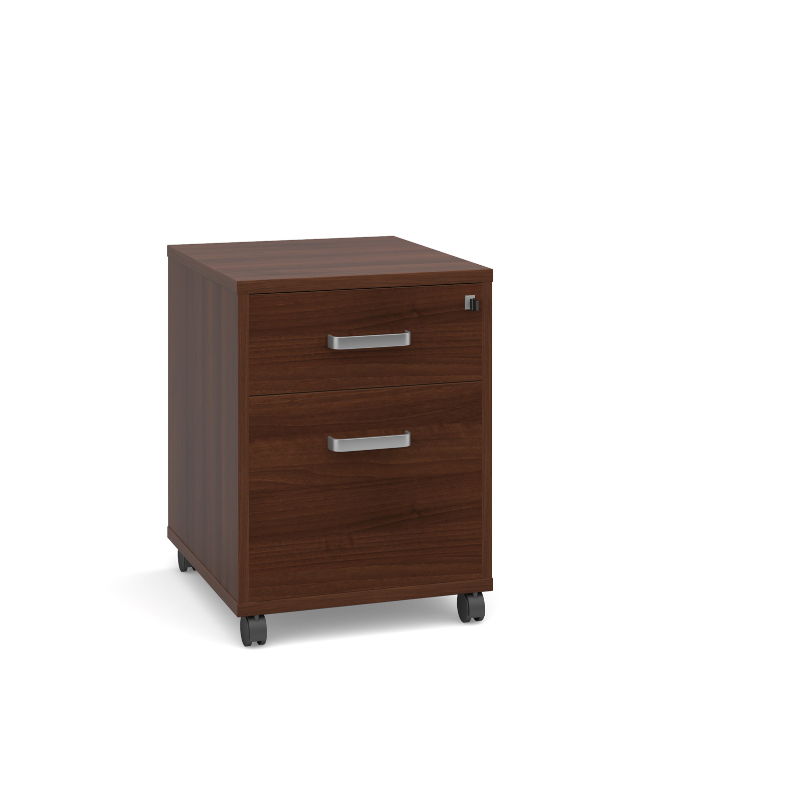 Magnum 2 drawer mobile pedestal - american walnut
