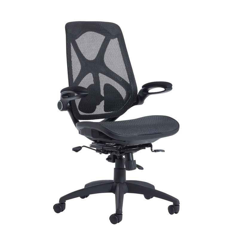 Napier high back mesh chair with mesh seat - black
