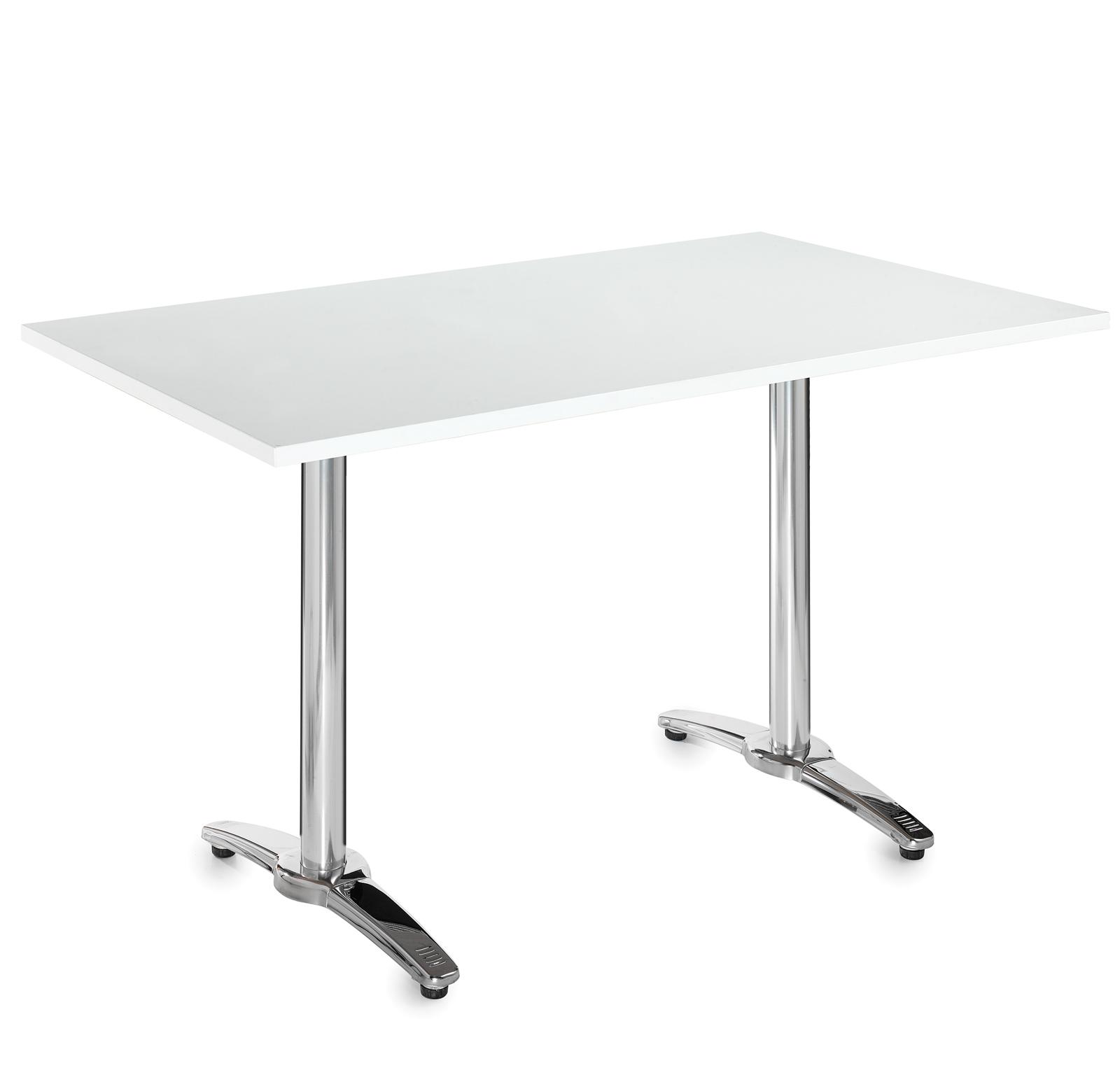 Image for Roma alu rectangular white tble 1600x800