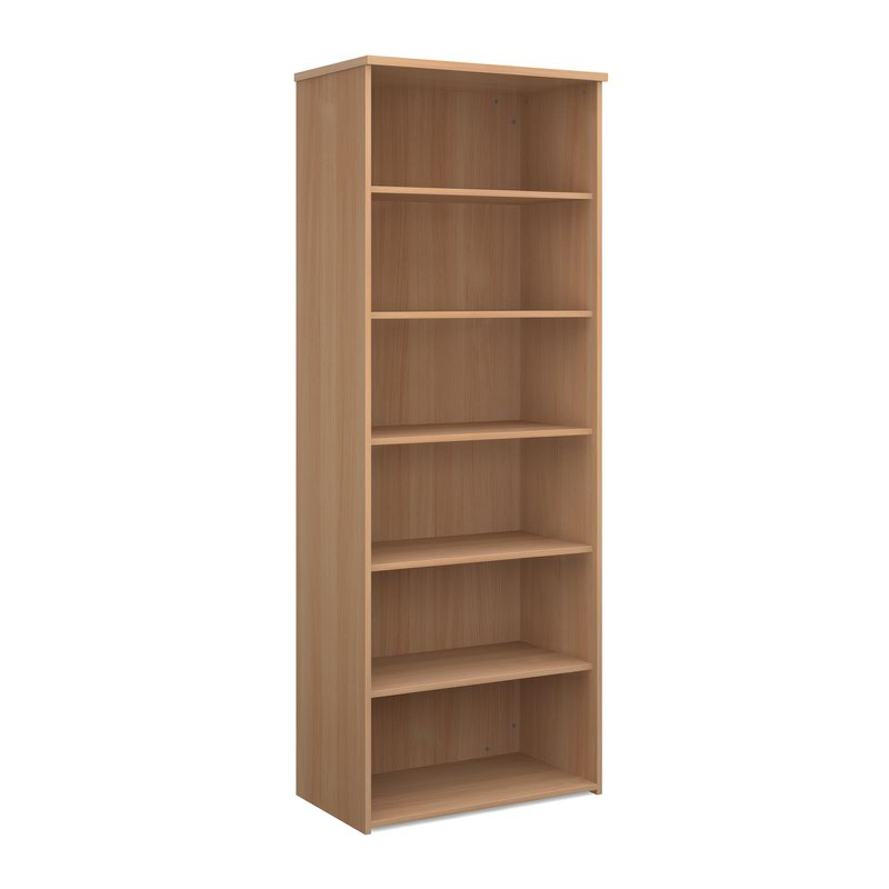 Universal bookcase 2140mm high with 4 shelves - beech