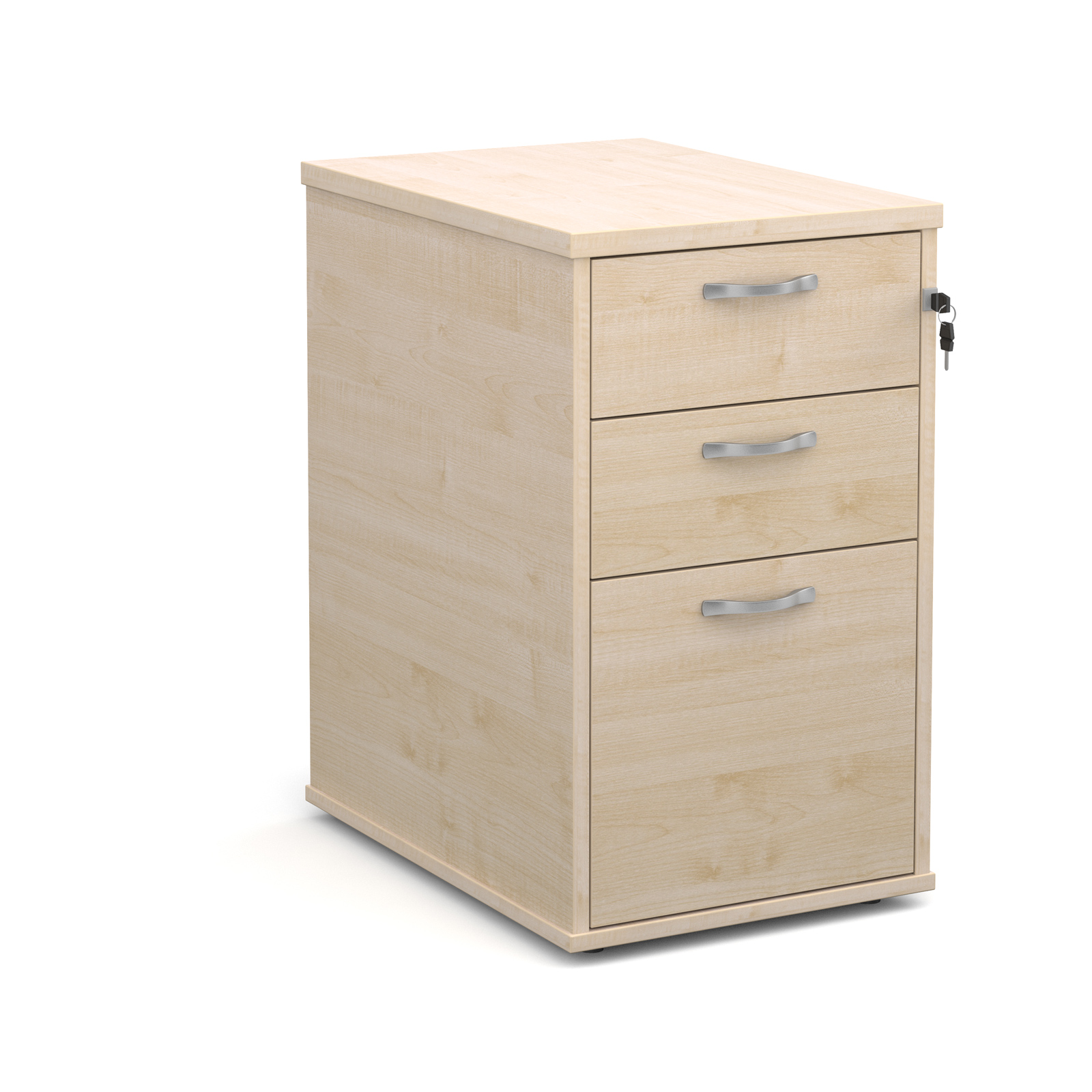 Image for Desk High Pedestal With Silver Handles
