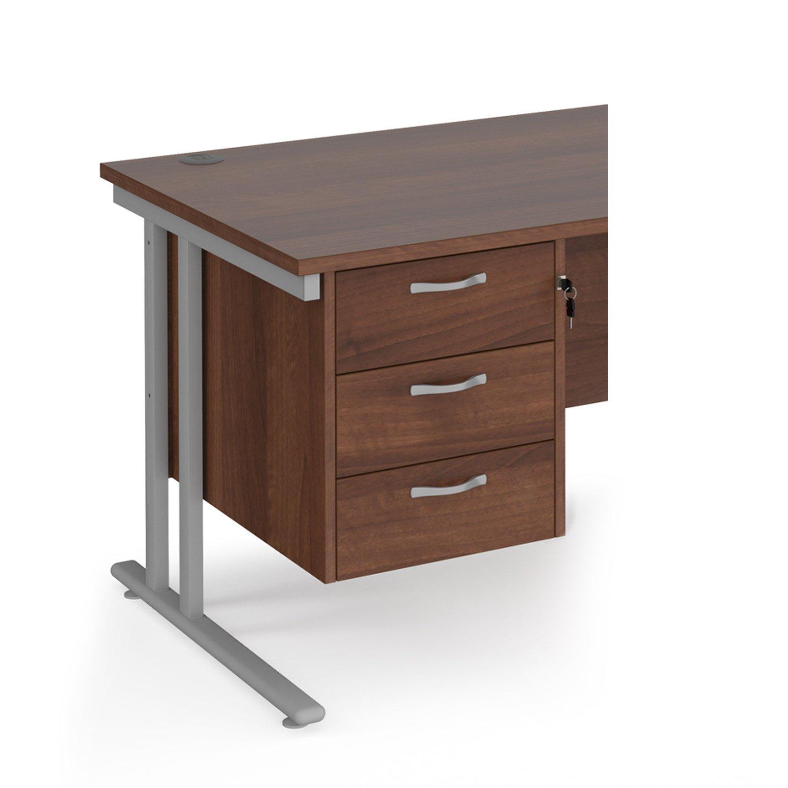 Image for Maestro 25 3 drawer fixed pedestal - walnut