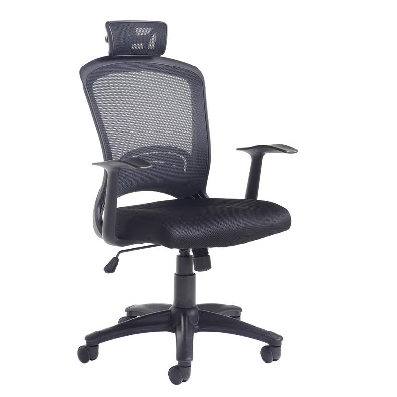 Solaris mesh back operator chair - black