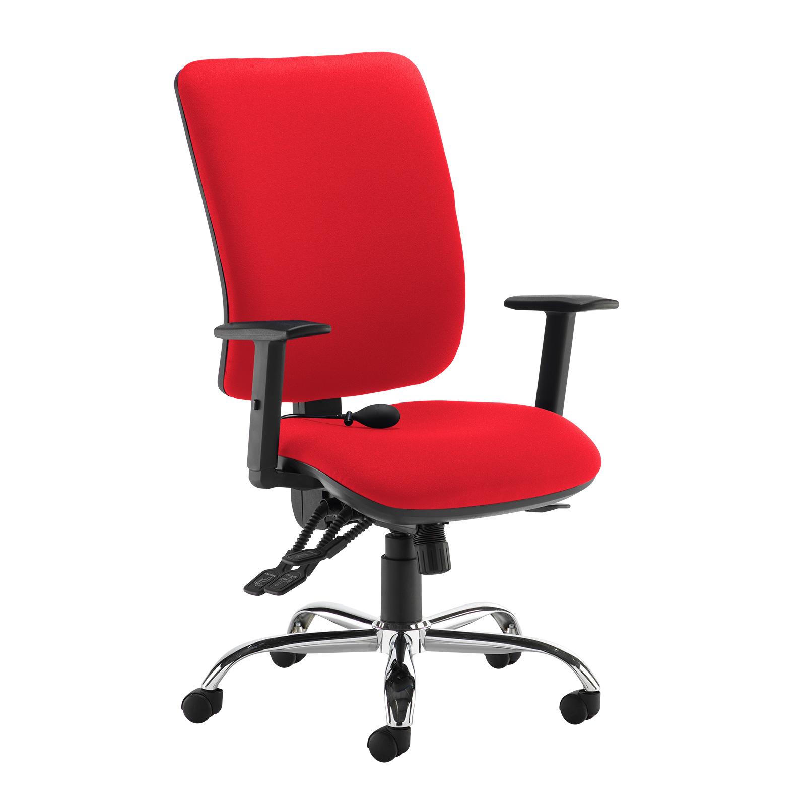 Senza ergo 24hr ergonomic asynchro task chair - red