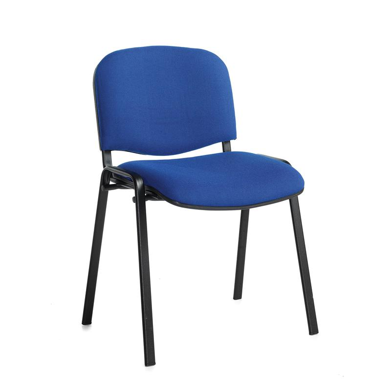 Black frame stackable chair - Blue