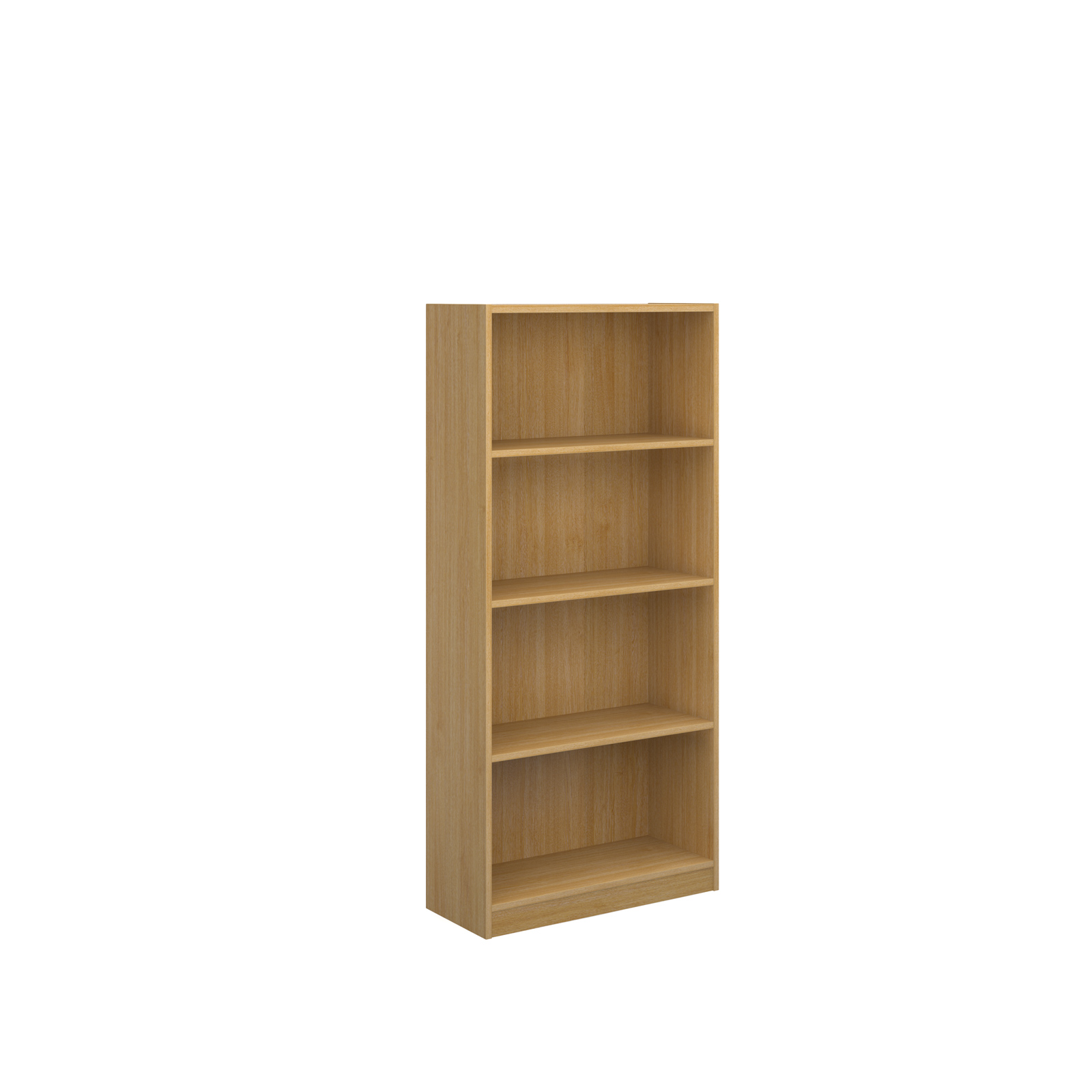 Image for Economy bookcase 1620mm high in oak