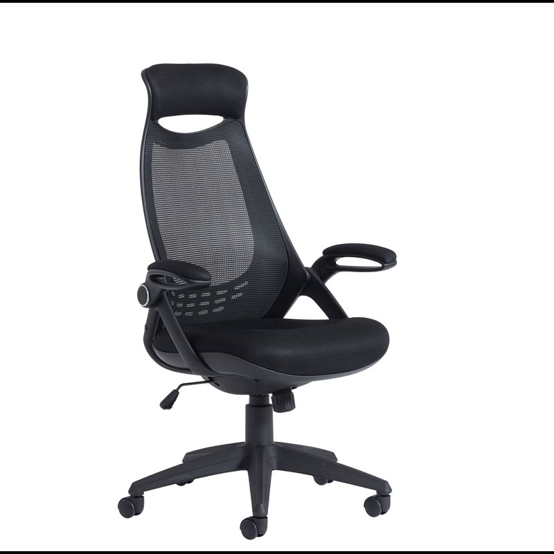 Image for Tuscan Mesh High Back Chair With Head Support Black