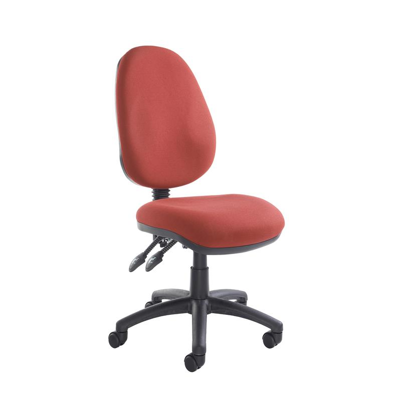 Vantage 100 2 lever fabric operator chair with no arms - burgundy