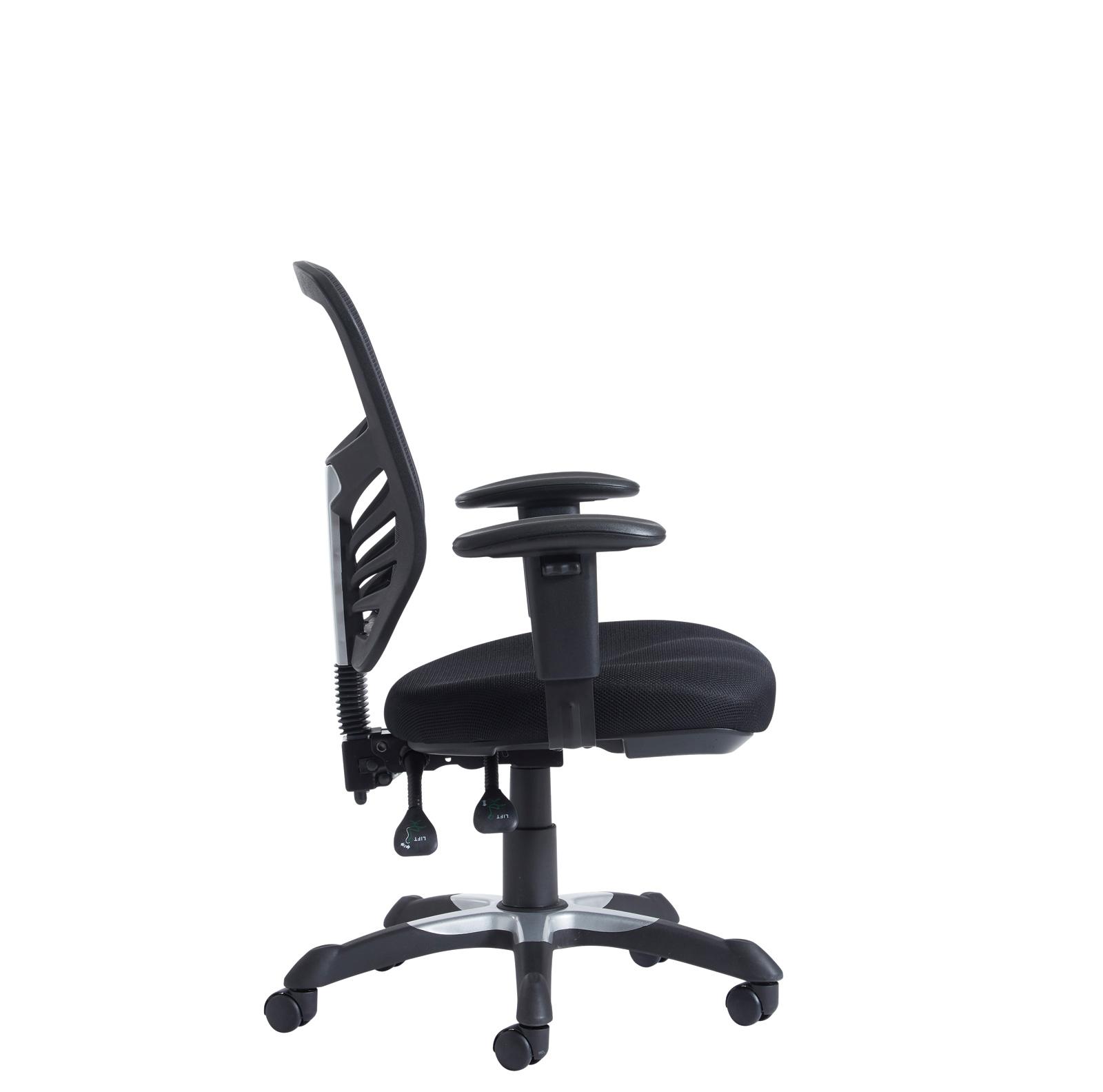 vantage fabric mesh task chair arms black bmg office equipment