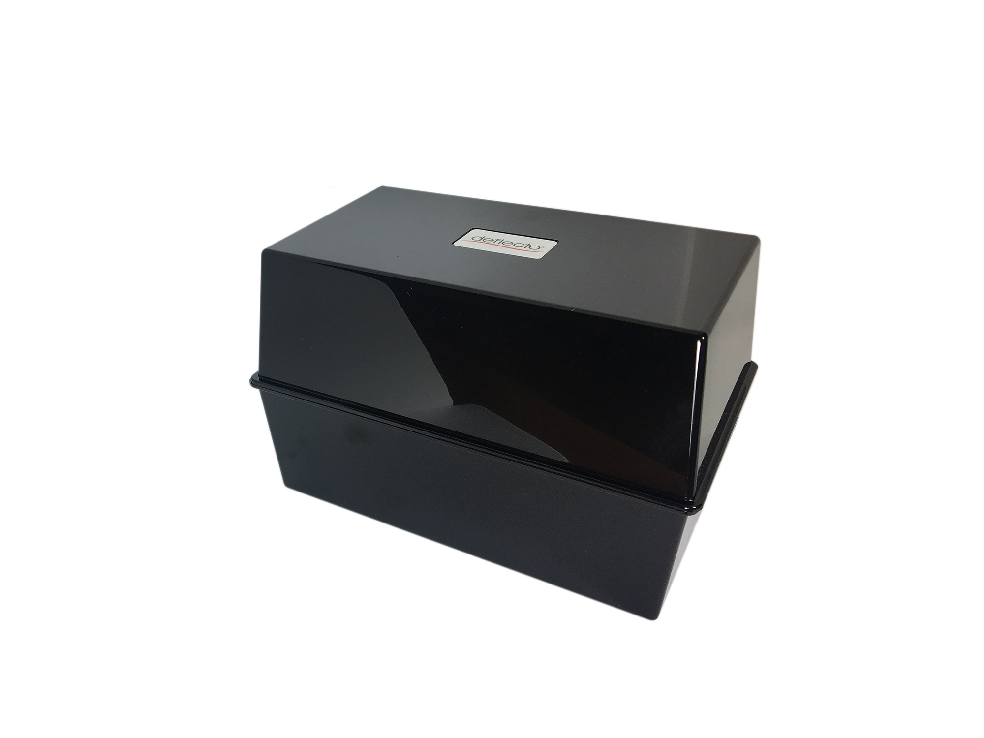 Storage ValueX Deflecto Card Index Box 5x3 Black
