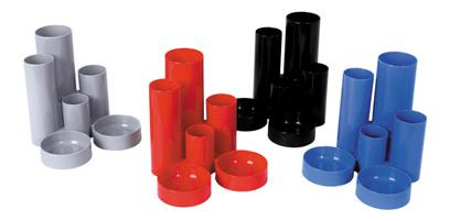 Desk Tidies ValueX Deflecto Tube Tidy Red