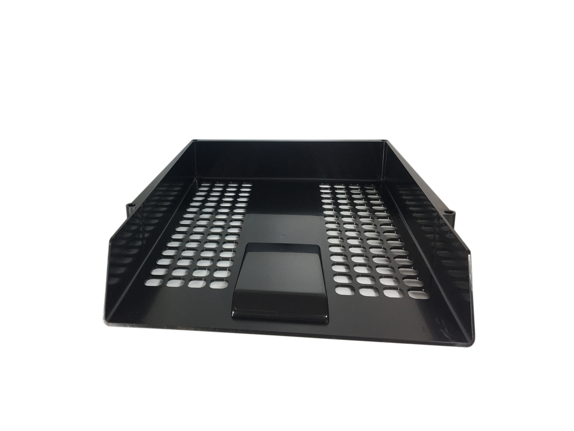 Value Deflecto Letter Tray Black