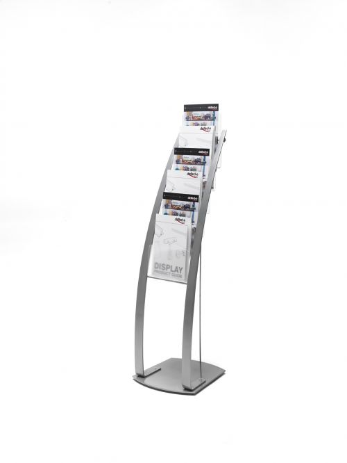 Deflecto A4 Portrait Floor Stand 6 Pockets Silver