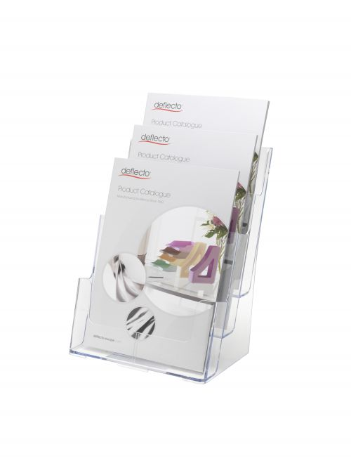 Deflecto A4 3 Tier Portrait Literature Holder 77301