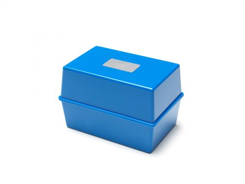 Image for Value Value Deflecto Card Index Box 5x3 Blue CP010YTBLU