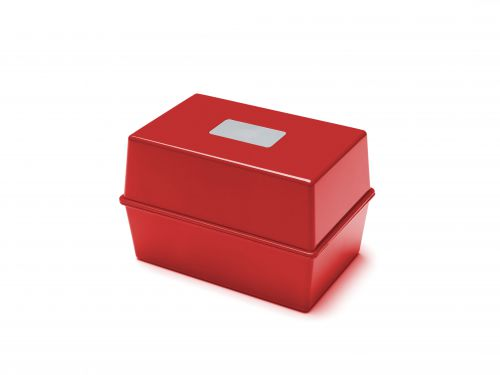 ValueX Deflecto Card Index Box (6 x 4 inches) Red