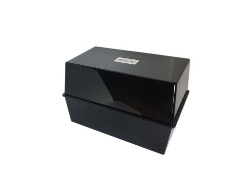 ValueX Deflecto Card Index Box (8 x 5 inches) Black
