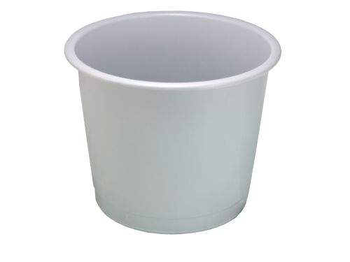 Value Deflecto 14L Plastic Waste Bin Grey