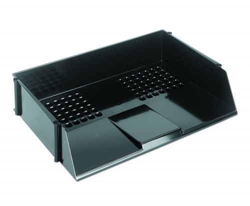 Value Deflecto Letter Tray Wide Entry Black