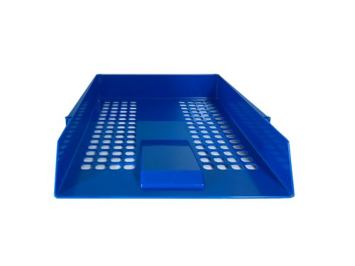Value Deflecto Letter Tray Blue