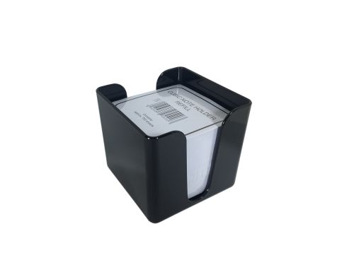 Value Deflecto Cubic Note Block and Holder Black